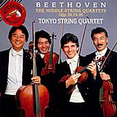 Play & Download The Middle String Quartets, Opp. 59, 74, 95 by Ludwig van Beethoven | Napster