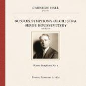 Serge Koussevitzky at Carnegie Hall, New York City, February 2, 1934 by Serge Koussevitzky