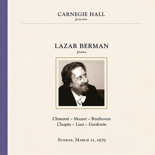 Lazar Berman at Carnegie Hall, New York City, March 11, 1979 by Lazar Berman