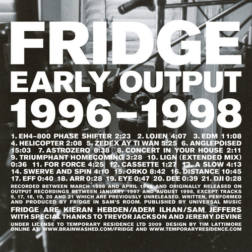 Play & Download Early Output 1996-1998 by Fridge | Napster