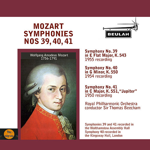 Mozart: Symphonies No. 39, 40, 41 by Sir Thomas Beecham