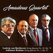 Ludwig van Beethoven: String Quartet No. 10, Op. 74 / Johannes Brahms: String Quartet No. 3, Op. 67 by Amadeus Quartet