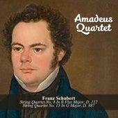 Franz Schubert: String Quartet No. 8 In B Flat Major, D. 112 / String Quartet No. 15 In G Major, D. 887 by Amadeus Quartet
