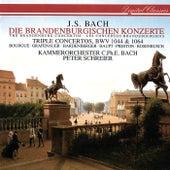 Bach, J.S.: Brandenburg Concertos Nos. 1-6; Concerto For 3 Violins; Concerto For Flute & Violin von Peter Schreier