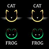 Cat Cat Frog Frog by Mike Phirman