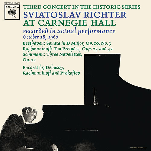 Sviatoslav Richter Recital -  Live at Carnegie Hall, October 28, 1960 von Sviatoslav Richter
