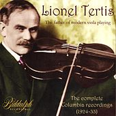 Lionel Tertis -- The Complete Columbia Recordings 1924~1933 by Various Artists