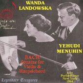 Yehudi Menuhin, Vol. 2: Bach Sonatas for Violin & Harpsichord de Yehudi Menuhin