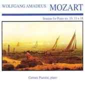 Mozart: Piano Sonata Nos. 10, 11 & 18 by Carmen Piazzini