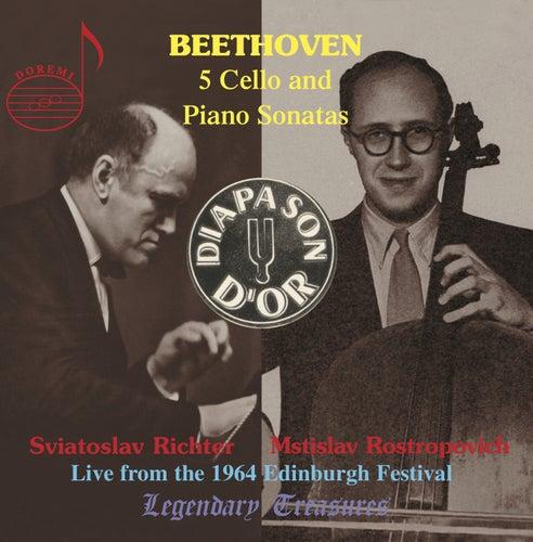 Beethoven: The Five Sonatas for Cello and Piano de Sviatoslav Richter