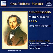 Play & Download Mendellsohn / Lalo / Chausson by Yehudi Menuhin | Napster