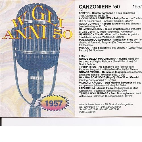 Play & Download Canzoniere '57 - Canzoni Originali Del 1957 by Various Artists | Napster