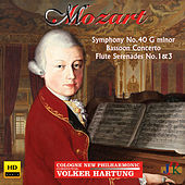 Mozart: Symphony No. 40 in G Minor, Bassoon Concerto & Flute Serenades Nos. 1 & 3 by Various Artists