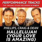 Play & Download Hallelujah (Your Love Is Amazing) (Premiere Performance Plus Track) by Phillips, Craig & Dean | Napster