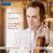 Play & Download MENDELSSOHN, F.: Violin Concerto, Op. 64 / SCHUMANN, R.: Phantasie / BRUCH, M.: Violin Concerto No. 1 (Schmid, Rheinische State Philharmonic, Raisk) by Benjamin Schmid | Napster