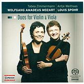 Play & Download MOZART, W.A.: Duos for Violin and Viola - K. 423, 424 / SPOHR, L.: Duo for Violin and Viola, Op. 13 (Weithaas, Zimmermann) by Tabea Zimmermann | Napster