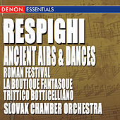 Play & Download Respighi: Ancient Airs and Dances, Roman Festival, La Boutique Fantasque & Trittico Botticelliano by Various Artists | Napster