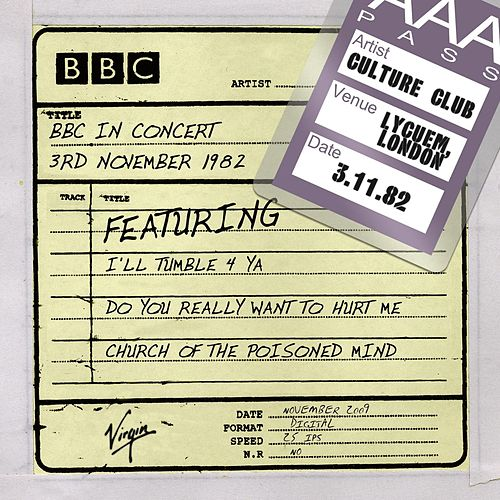 Play & Download BBC In Concert (3rd November 1982) by Culture Club | Napster