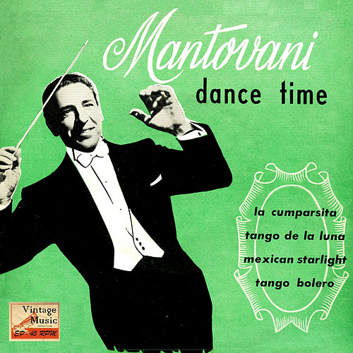 Vintage Dance Orchestras Nº 101 - EPs Collectors, 'Dance Time' by Mantovani & His Orchestra