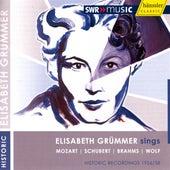 Vocal Recital: Grummer, Elisabeth - Mozart, W.A. / Schubert, F.J. / Brahms, J. / Wolf, H. by Elisabeth Grummer