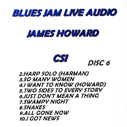 Play & Download Blues Jam Live Audio: James Howard by James Howard | Napster