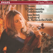 Telemann: Five Violin Concertos by Iona Brown