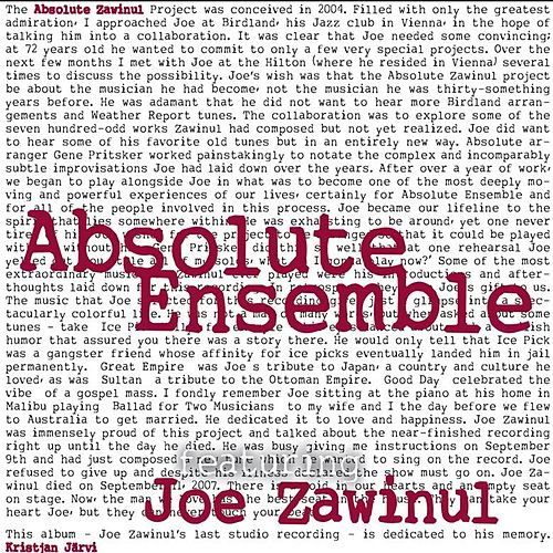 Play & Download Absolute Zawinul by Absolute Ensemble | Napster