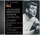 Schubert, F.: Symphony No. 9 / Ravel, M.: Piano Concerto in G Major (Bernstein, Boston Symphony, Philharmonia Orchestra, Bernstein) (1946, 1957) by Leonard Bernstein