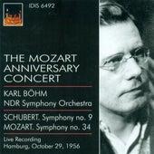 Schubert, F.: Symphony No. 9 / Mozart, W.A.: Symphony No. 34 (The Mozart Anniversary Concert) (North German Radio Symphony, Bohm) (1956) by Karl Bohm