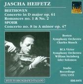 Play & Download Beethoven, L. Van: Violin Concerto, Op. 61 / Romances Nos. 1 and 2 / Spohr, L.: Violin Concerto No. 8 (Heifetz) (1951, 1954, 1955) by Jascha Heifetz | Napster