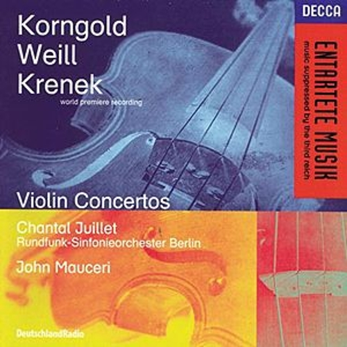 Play & Download Korngold / Weill / Krenek: Violin Concertos by Various Artists | Napster