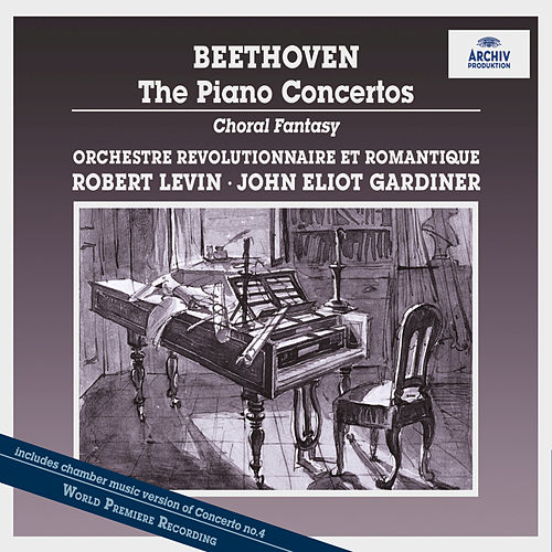 Beethoven: Piano Concertos Nos.1-5; Symphony No. 2, Op. 36; Fantasy For Piano, Chorus And Orchestra, Op. 80; Choral Fantasy (two altern. improv. piano introd.); Rondo For Piano And Orchestra WoO6 by Robert Levin