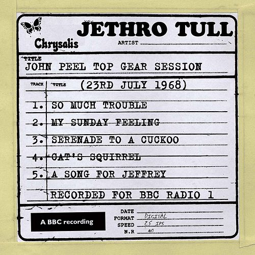 Play & Download John Peel Top Gear Session (23rd July 1968) by Jethro Tull | Napster
