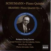 Play & Download Schumann: Piano Quintet, Op. 44 / Brahms: Piano Quartet No. 2 (Curzon, Budapest Quartet) (1951-1952) by Clifford Curzon | Napster