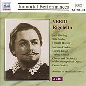 Play & Download Verdi: Rigoletto (Bjorling, Sayao, Warren) (1943) by Various Artists | Napster