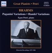 Brahms: Paganini and Handel Variations (Petri) (1937-1940) by Egon Petri