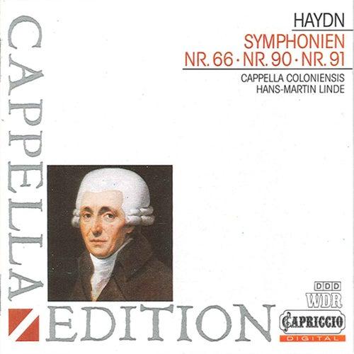 Haydn: Symphonies Nos. 66, 90 & 91 by Hans-Martin Linde