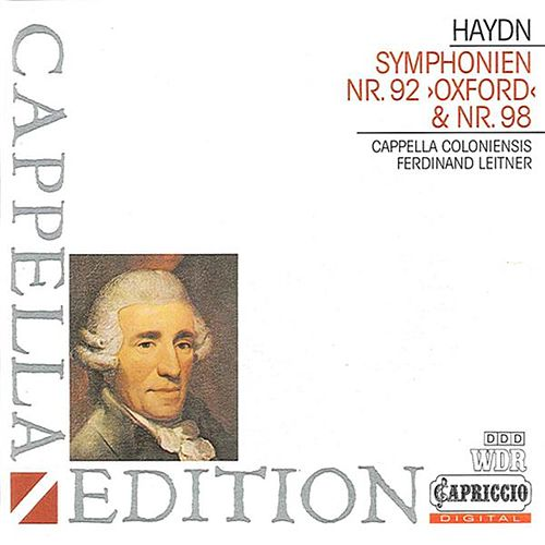 Haydn: Symphonies Nos. 92 & 98 by Ferdinand Leitner
