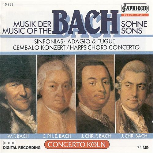 Play & Download Bach Sons (The) – Bach, J.C.F. / Bach, W.F. / Bach, C.P.E. / Bach, J.C. by Various Artists | Napster