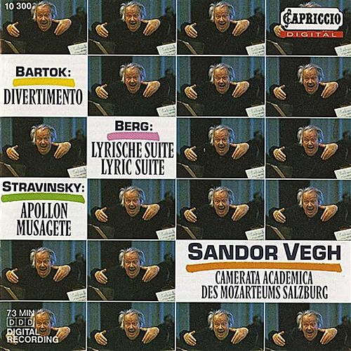 Play & Download Bartok: Divernmento - Berg: 3 Pieces from the Lyric Suite - Stravinsky: Apollon Musagete by Sandor Vegh | Napster