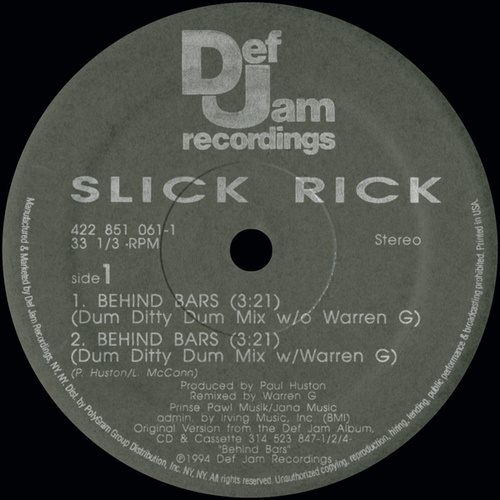 Play & Download Behind Bars by Slick Rick | Napster