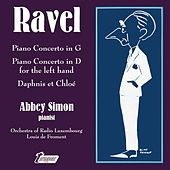 Ravel: Piano Concerto in G; Piano Concerto in D for the Left Hand; Daphnis et Chloé by Abbey Simon