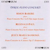 Play & Download Three Piano Concerti (1930, 1946) by Various Artists | Napster