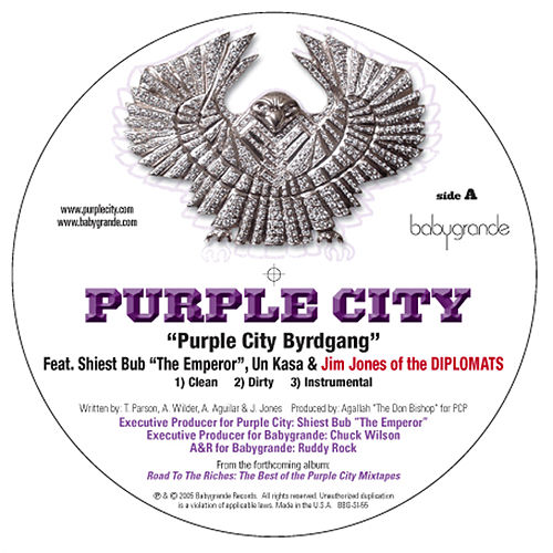 Play & Download Purple City Byrdgang (feat. Jim Jones (of the Diplomats), Un Kasa & Sheist Bubz) (12') by Various Artists | Napster