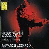 Play & Download Nicolò Paganini : 24 Capricci for Violin Solo Op. 1 by Salvatore Accardo | Napster