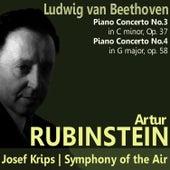 Beethoven: Piano Concertos No. 3 and No. 4 by Artur Rubinstein