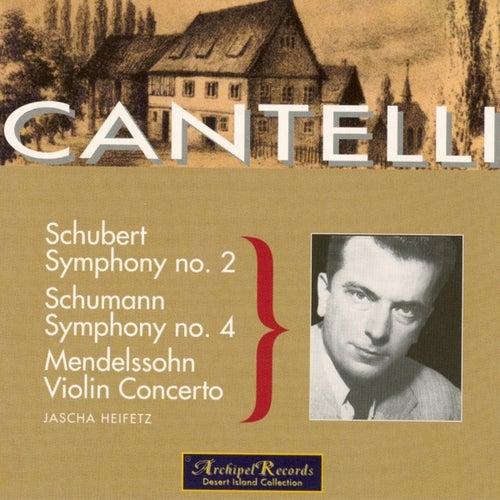 Play & Download Schumann: Symphony No. 4 in D Minor Op.120 - Schubert: Symphony No. 2 in B Flat Major D. 125 - Mendelssohn: Violin Concerto in E Minor Op.64 by Jascha Heifetz | Napster