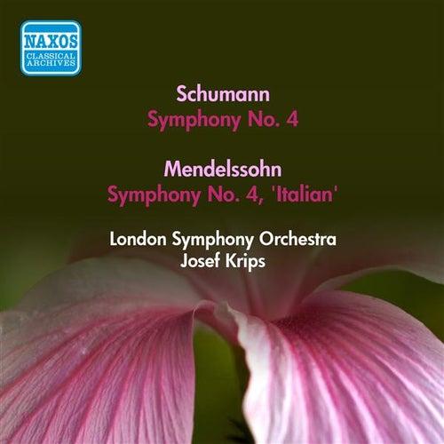 Play & Download Schumann, R.: Symphony No. 4 / Mendelssohn, F.: Symphony No. 4, 'Italian' (Krips) (1953) by Josef Krips | Napster
