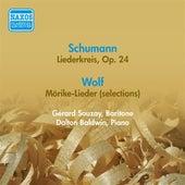 Play & Download Schumann, R.: Liederkreis / Wolf, H.: Morike Lieder (Excerpts) (Souzay) (1956) by Dalton Baldwin | Napster