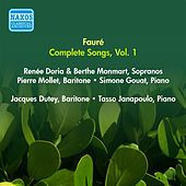 Play & Download Faure, G.: Songs (Complete), Vol. 1 - Opp. 1-8 (Doria, Monmart, Dutey, Mollet) (1955) by Various Artists | Napster